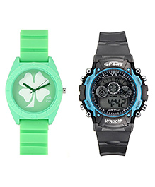 Fantasy World Sport Watch Combo - Grey & Green