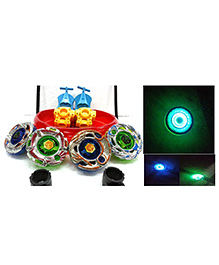 Toyshine Metal Beyblades With Led Lights - Multi Color