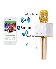 Toyshine Portable Wireless Bluetooth Mike - Golden
