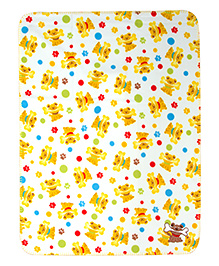 Mee Mee Multi Purpose Blanket With Puppy Print - Yellow White