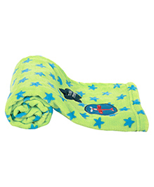 Mee Mee Multi Purpose Blanket With Star Print - Blue Green