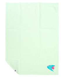 Mee Mee Multi Purpose Blanket With Fish Patch - Light Green