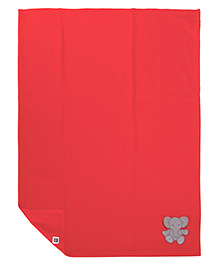 Mee Mee Multi Purpose Blanket With Elephant Patch - Red