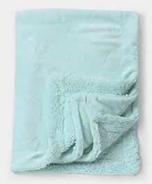 Mee Mee Blanket With Embossed Print - Light Blue