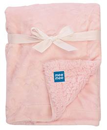 Mee Mee Blanket With Embossed Print - Light Pink
