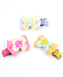 Asthetika Colourful Mini Hair Clips Set Of 3 - Multicolour