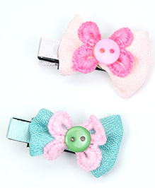 Asthetika Colourful Mini Hair Clips Set Of 2 - Multi-Colour