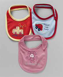 Ohms Bibs Multi Patch Pack Of 3 - Pink Blue & Red