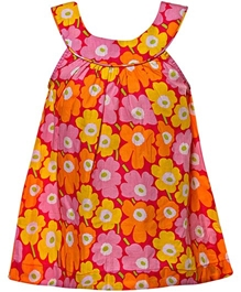 Little Pixies - Sleeveless Floral Frock With Bloomers