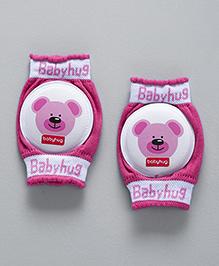 Babyhug Baby Knee Pads Bear Print - Pink