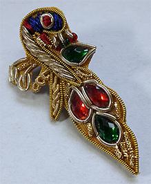 Sugarcart Peacock Design Hair Clip - Multicolor