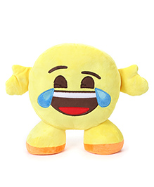 My Baby Excels Standing Emoji Feeling Joy Cushion Yellow - 30 Cm