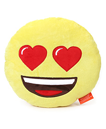 My Baby Excels Emoji In Love Cushion Yellow - 30 Cm