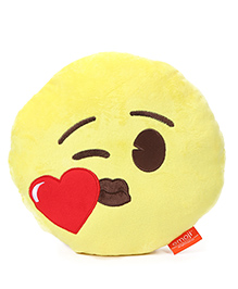 My Baby Excels Emoji Face Cushion Yellow - 30 Cm