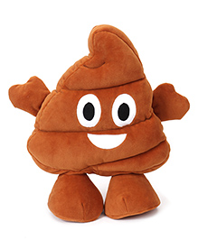 My Baby Excels Standing Emoji Poop Cushion Brown - 30 Cm