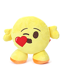 My Baby Excels Emoji Cushion With Hands And Legs Yellow - 30 Cm