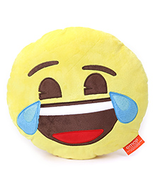 My Baby Excels Emoji Feeling Joy Cushion Yellow - 30 Cm