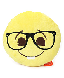 My Baby Excels Emoji Nerd Face Cushion Yellow - 30 Cm