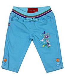 LittlePixies - Girls Capri With Embroidery