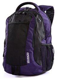 American Tourister - Purple And Black Back Pack