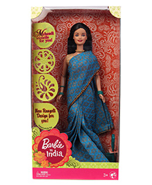 Barbie In India Doll Blue - Height 30 Cm