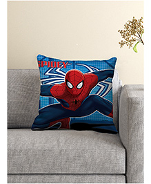 Marvel Spider Man Printed Cushion Cover - Blue & Red
