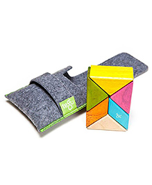 Tegu Building Blocks With Pouch Tints Theme Multi Color - 6 Pieces