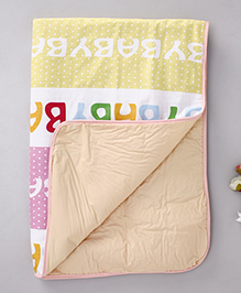 Diaper Changing Baby Mat Printed - Pink Yellow