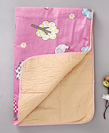 Diaper Changing Baby Mat Elephant Print - Pink