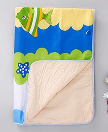 Diaper Changing Baby Mat Star Fish Print - Multi Color