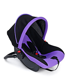 Baby Car Seat Cum Carry Cot - Black & Purple