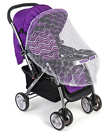 Baby Stroller With Mosquito Net - Purple