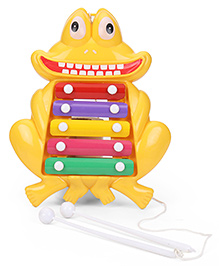 Prime Creations Pull Along Frog Xylophone - Yellow
