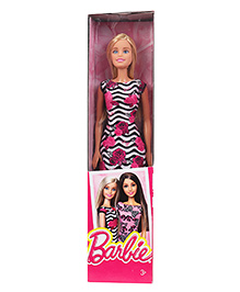 Barbie Fashion Doll With Floral Printed Dress Multicolour - Height 29 Cm