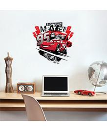 Orka Digital Printed Pixar Car Design Wall Sticker - Red & Black