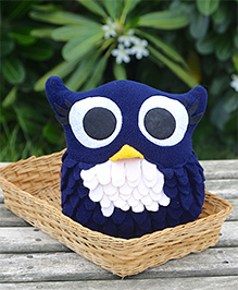 My Gift Booth Cushion Owl Shaped - Blue