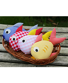 My Gift Booth Fish Shape Cushion Set Of 4 - Multicolor
