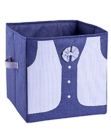 My Gift Booth Storage Box Tuxedo Style - Blue