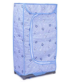 Storage Unit With 3 Shelves Star Print - Blue