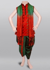 SAPS - Ethnic Dhoti Kurta Set With Duppata