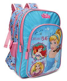 Disney Princess Dream Big School Bag Blue Pink - 14 Inches