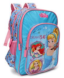 Disney Princess Dream Big School Bag Blue Pink - 18 Inches