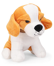 Dimpy Stuff Puppy Soft Toy Light Yellow White - 18 Cm