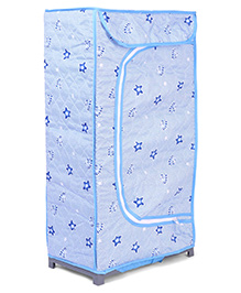 Storage Unit With 3 Shelves Star Print - Light Blue