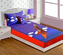 Swayam - Digital Rocket Print Baby Bed sheet  With 1 Pillow Cover