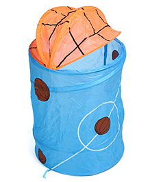 Laundry Bag Basket Ball Print - Sky Blue