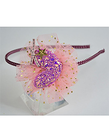 Little Miss Cuttie  Heart Design Hairband - Pink