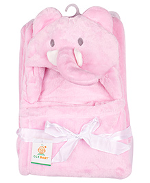 Ole Baby Mink Hooded Blanket (Colour & Design May Vary)