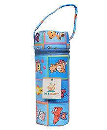 Ole Baby Insulated Bottle Bag Teddy Bear Print Blue - 250 Ml
