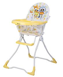 Toyhouse Baby High Chair Owl Print - Yellow